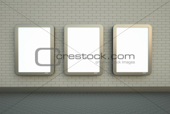 Three wall banners