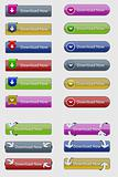 Vector Clean Glossy Download Buttons
