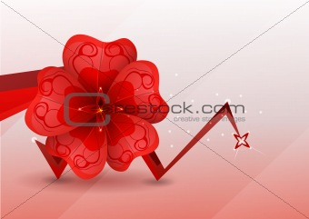 abstract background. red flower. Vector