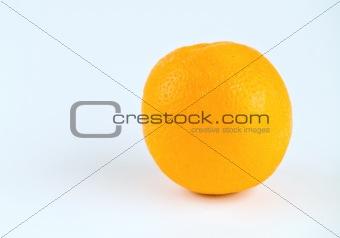 Single Orange Isolated on White