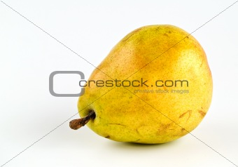 Single Pear Isolated on White