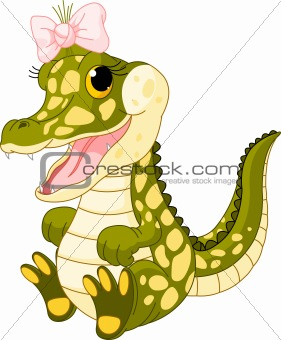 Baby girl crocodile