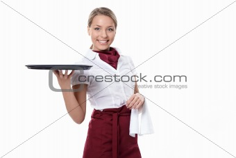 Attractive waitress