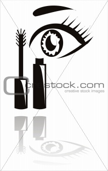 black mascara with eye