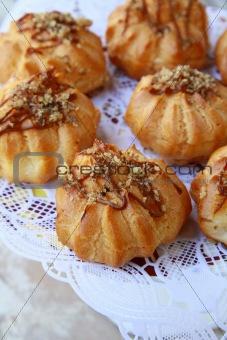 France's pastry eclairs profiteroles dessert plates
