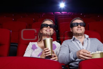 Couple at cinema