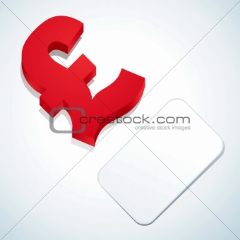 Pound sign and business card