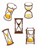 Hourglass symbols