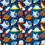 seamless space pattern