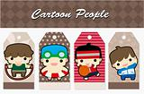 cartoon sport people card