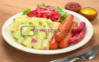 Sausages and Potato Salad