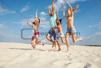 Joyful runners