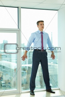 Businessman by window