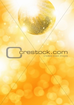 Gold disco-ball