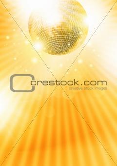 Gold disco-ball