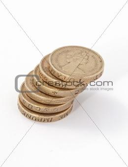 British, UK, pound coins.