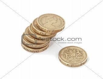 British, UK, pound coins.