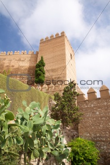 fortification tower at Almeria castle