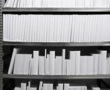 White Books in Shelf