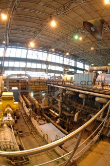 factory with equipment to produce