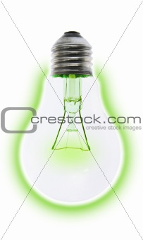 """Green"" environmental friendly incandescent light bulb"