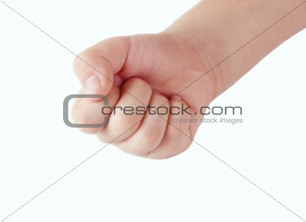 Close up of a child's fist