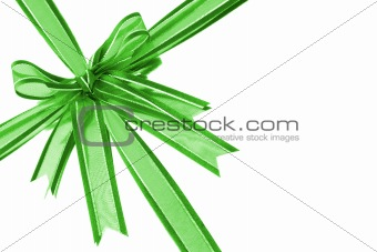 Green decorative bow ribbon