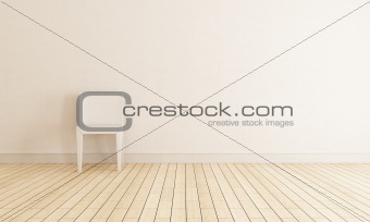 chair against wall