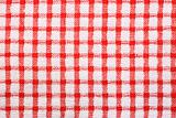 Red and white checked pattern cloth