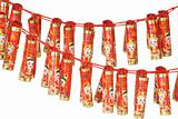 Chinese new year fire craker ornaments