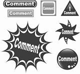 Comment button web glossy icon