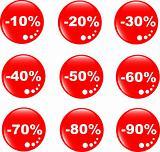 discount label button web glass icon