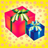 Two boxes with gift