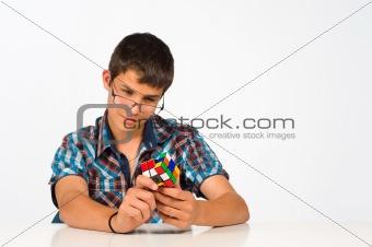 Nerd playing