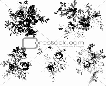 grunge rose texture