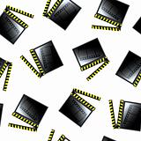 movie cinema clapboard pattern