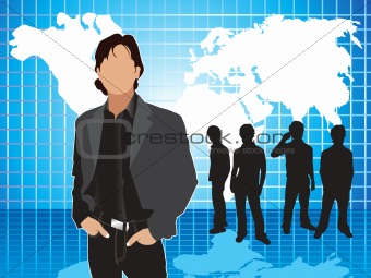 abstract corporate background with silhouette