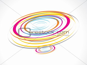 abstract colorful circles waves background