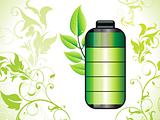 abstract eco green battery icon