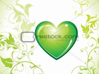 abstract eco green heart bin icon