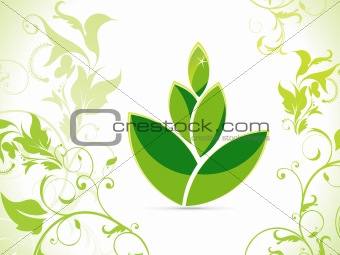 abstract eco green leaf