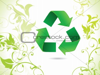 abstract eco green recycle icon