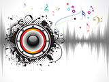 abstract grunge based sound background