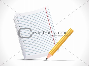 abstract notepad with pencil icon