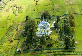 Small mountain village church