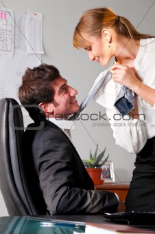 flirting at office