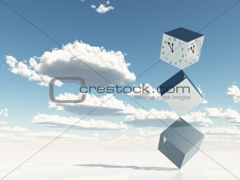 Cubes of metal and time
