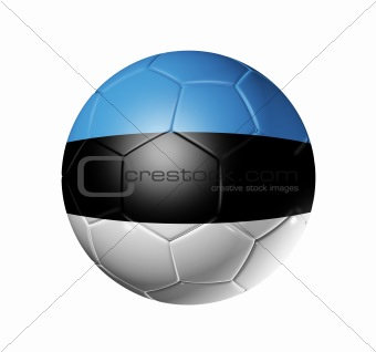 Soccer football ball with Estonia flag