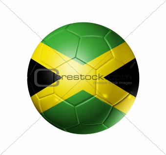 Soccer football ball with Jamaica flag