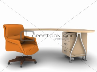 Office chair with worktable